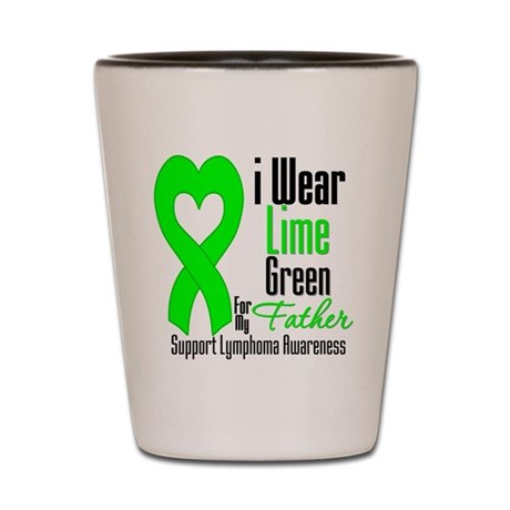 Lymphoma Heart Father Shot Glass