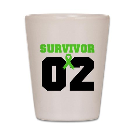 Lymphoma Survivor 2 Years Shot Glass