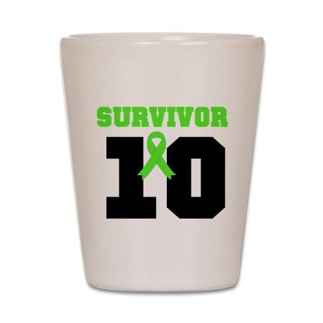 Lymphoma Survivor 20 Year Shot Glass