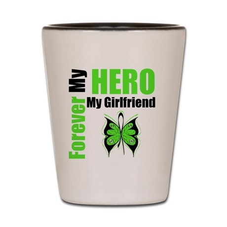 Lymphoma Hero Girlfriend Shot Glass