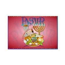 Passover Seder Rectangle Magnet