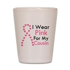 I Wear Pink Shot Glass