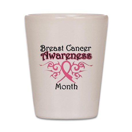 Breast Cancer Awareness Month Shot Glass
