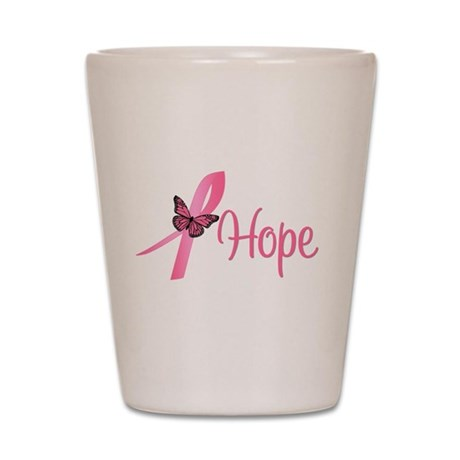 Breast Cancer Hope Shot Glass