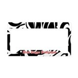 BDB Black and White License Plate Holder