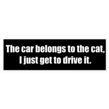 The car belongs to the cat (Bumper Sticker)