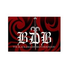 Red BDB Logo Rectangle Magnet