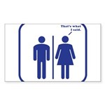 That's What She Said Sticker (Rectangle 50 pk)