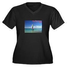Playa del Carmen, MX Sailboat Women's Plus Size V-