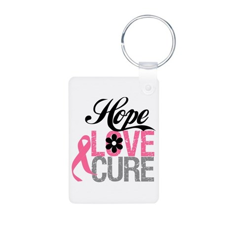 Breast Cancer HOPE CURE Aluminum Photo Keychain