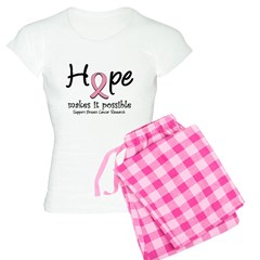 Hope Breast Cancer Women's Light Pajamas