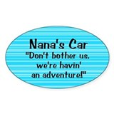Nana's Car - Oval Decal