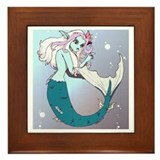 Anime Mermaid Framed Tile