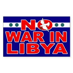 No War in Libya bumper sticker