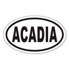 ACADIA National Park Euro Oval Decal
