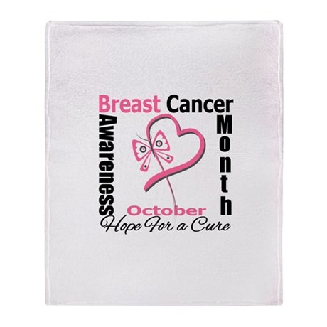 Breast Cancer Month Heart But Throw Blanket