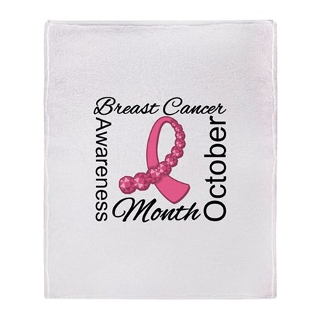 Awareness Month Breast Cancer Throw Blanket
