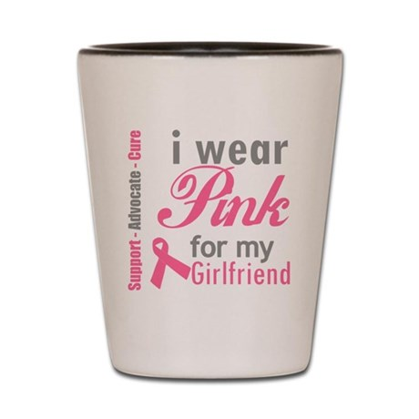 Breast Cancer Shot Glass