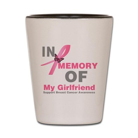 BreastCancerMemoryWife Shot Glass