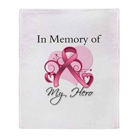 Breast Cancer In Memory Hero Throw Blanket