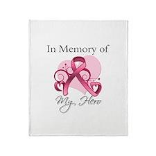Breast Cancer In Memory Hero Throw Blanket