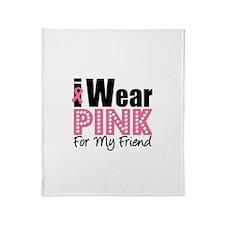 I Wear Pink Throw Blanket