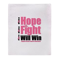 Hope, Fight, Win BC Throw Blanket