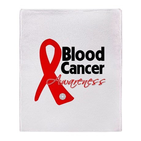 Blood Cancer Ribbon Throw Blanket