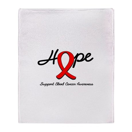 Blood Cancer Hope Throw Blanket