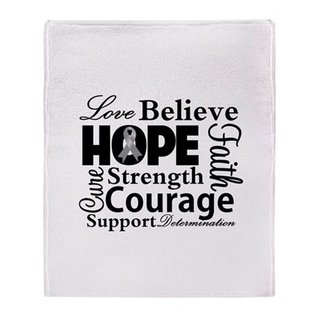 Brain Cancer Hope Collage Stadium Blanket