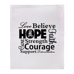 Brain Cancer Hope Collage Throw Blanket
