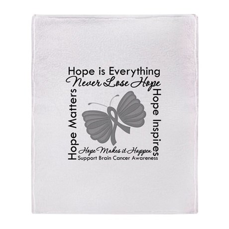 HopeisEverything BrainCancer Stadium Blanket