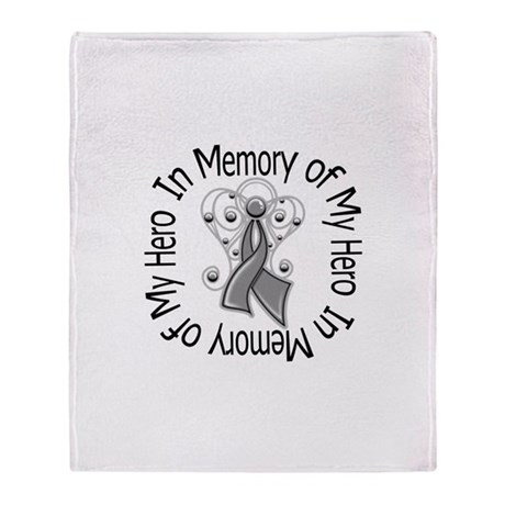 Brain Cancer In Memory Stadium Blanket