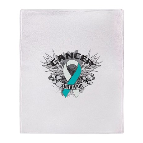Survivor - Cervical Cancer Throw Blanket