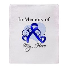 Colon Cancer Memory Hero Throw Blanket