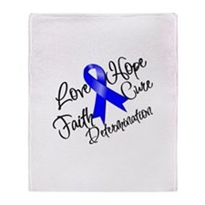 Love Hope Colon Cancer Throw Blanket
