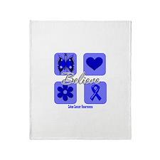 Believe Colon Cancer Throw Blanket