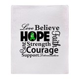 Bile Duct Cancer Hope Throw Blanket