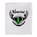 Bile Duct Cancer Warrior Throw Blanket