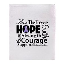 General Cancer Hope Throw Blanket