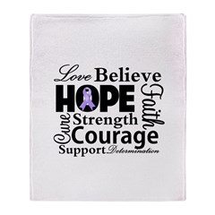 General Cancer Hope Throw Blanket