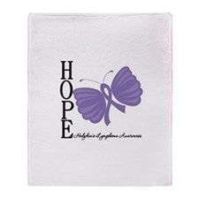 Hope Hodgkins Lymphoma Throw Blanket
