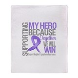Supporting Hero Hodgkins Throw Blanket