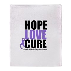 Hodgkins Hope Love Cure Throw Blanket