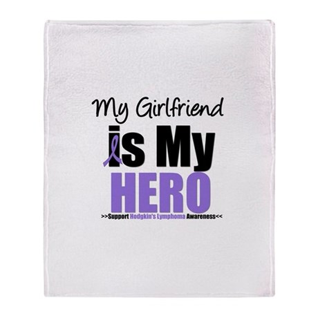Hodgkin's Lymphoma Hero Throw Blanket