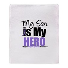 My Son is My Hero (HL) Throw Blanket