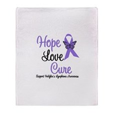 Hodgkins HopeLoveCure Throw Blanket
