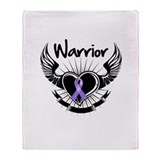 Warrior Hodgkin's Lymphoma Throw Blanket