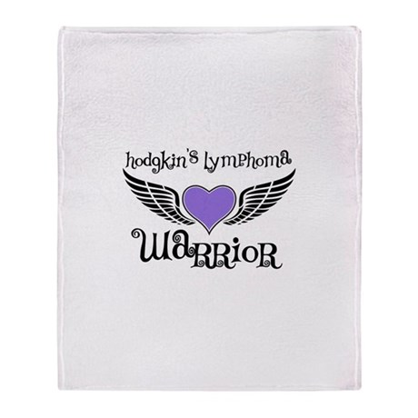 HodgkinsWarriorTattoo Throw Blanket