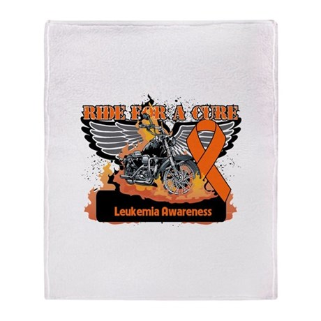 Leukemia Ride For a Cure Throw Blanket